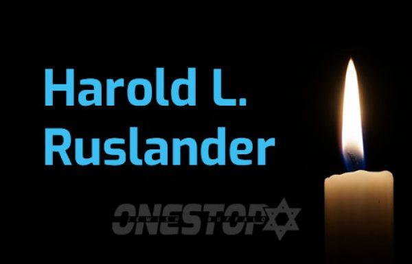 HAROLD L. RUSLANDER