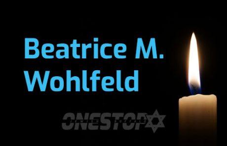 Beatrice M. Wohlfeld