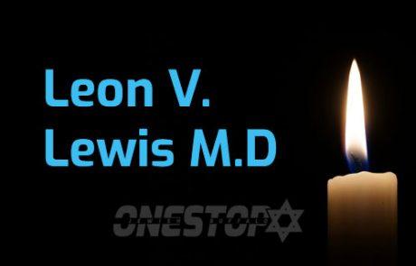LEON V. LEWIS MD